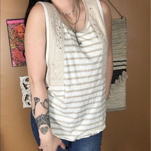 FREE PEOPLE / Striped Mirror Embezzlement Blouse